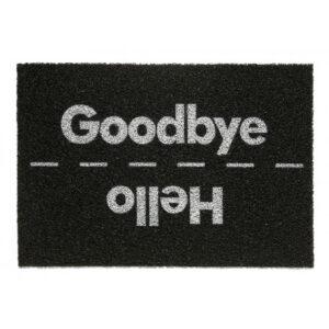 tapete divertido goodbye hello